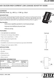 Zlls1000 Datasheet Www S Manuals Com Zetex