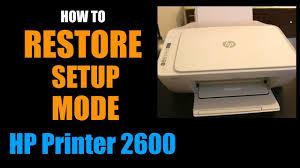 Hp Deskjet 2600 Light Blinking How To Restore Setup Mode On Hp Deskjet 2600 All In One Printer Series