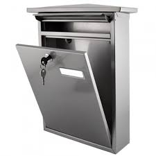 vertical wall mount mailbox. Locking Vertical Wall Mounted Mailbox Made From Stainless Steel For Exterior Home Mount T
