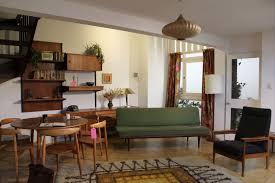 Mid Century Modern Living Room Furniture Mid Century Modern Living Room Ideas Orange Color Fabric Lounge