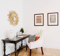 kkdl designers used kelly moore s swiss coffee to achieve this clean spanish look