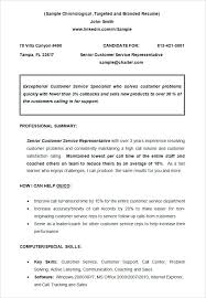 Chronological Resume Examples Chronological Resume Template ...