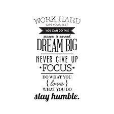 TOOGOO(R) WORK HARD <b>DREAM BIG Quote Wall</b> Sticker Office ...