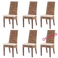 Rattan Kitchen Furniture Set Of 6 Lavezzi Chairs Abaca Rattan Chair Sets Rotin Design