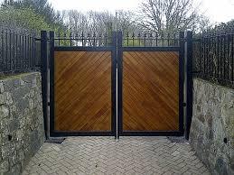 steel framed gates clad in hardwood widecombe in the moor devon