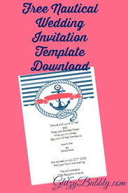 Create Your Invitation Download And Create Your Own Diy Free Editable Nautical Wedding
