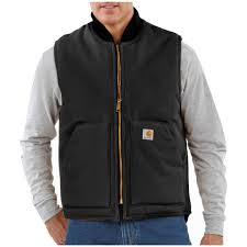 Carhartt® Arctic Quilt Lined Duck Vest - 108355, Vests at ... & Carhartt® Arctic Quilt Lined Duck Vest, Black Adamdwight.com