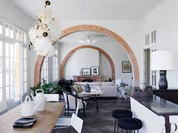 arch design for living room in india. india mahdavi latest project: a retro villa in french riviera by architectural digest arch design for living room