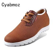 <b>Increased men's shoes 6cm</b> summer breathable <b>shoes men</b> leisure ...