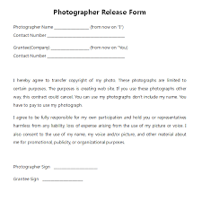Photographer Release Forms Impressive Generic Copyright Release Form Heartimpulsarco
