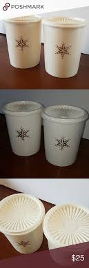 Vintage tupperware one touch canister set coffee set 5. Tupperware Servalier Snowflake Canister Tupperware Kitchen Food Storage Canister Sets