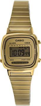 17 best ideas about casio gold watch casio watch casio women s la670wga 9 gold stainless steel quartz watch digital dial