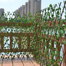 Artificial Trellis With Lights Us 9 72 35 Off Artificial Garden Plant Fence Uv Protected Privacy Screen Outdoor Indoor Use Garden Fence Backyard Home Decor Greenery Walls In
