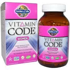 garden of life vitamin code women raw whole food multivitamin 240 veggie
