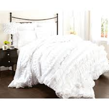 duvet covers grey and white ticking striped linen duvet cover with mermaid long ruffle ruffle