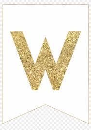 Free Download Letter W Gold Alphabet Banner Letter Gold Free Printable Banner