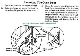 oven repair fixitnow com samurai appliance repair man page 5 removing the door on a thermador prg304us oven