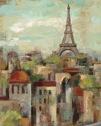 hot abstract art on canvas oil painting landscape spring in paris by silvia vassileva painting