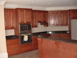 Cherry Kitchen Cabinet Doors Dark Cherry Wood Kitchen Cabinet With Stainless Steel Double