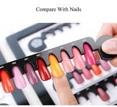 Tamax Na039 24 Tips Nail Gel Polish Color Display Chart Salon Acrylic Gel Magnetic Nail Display Color Showing Shelf Card Chart False Nails Uk Nail