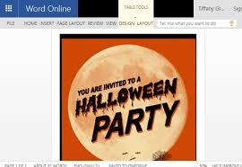 Word Halloween Templates Halloween Flyer Word Template