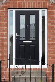 front doors with side panelsFull House of Georgian Bar High quality Rehau framework and Black