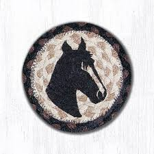 horse portrait 31 ic313hp round individual coaster 5x5