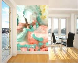 Chic Living Room Accent Watercolor Wall. Image Credit: Interioridea. Accent  Wall Colors
