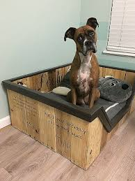 diy dog bed nightstand unique dog bed made from some s pallets dog beds