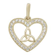 9ct gold cubic zirconia triquetra in heart pendant variant attributes variant attributes variant attributes variant attributes brand unbranded