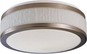 afx fuf162400l30d1sn fusion satin nickel led 15 5 nbsp flush mount ceiling light fixture loading zoom
