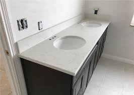 kitchen engineered stone vanity tops double sink for apartment renovation