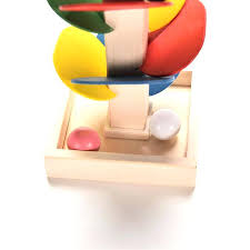 Wooden Ball On String Game Wooden Ball Toy Baby Shaking And Sound Activated Activity Cube 40