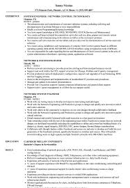 Network System Engineer Resume Samples Velvet Jobs