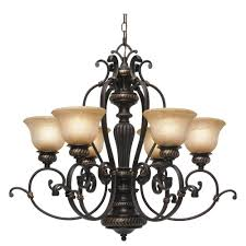 golden lighting chandelier. Golden Lighting Florian Collection 6-Light Etruscan Bronze Chandelier