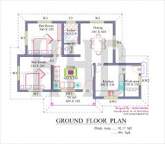 Floor Plan And Elevation Of Sqfeet Villa Kerala Home Design Simple Simple Square House Plans