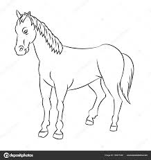 Coloriage De Cheval De Traitlll
