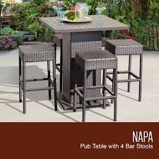 pub table set backless barstools