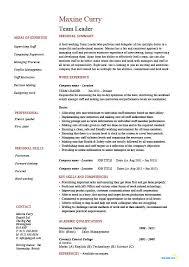 Sample Resume For Team Lead Position Team Leader Resume Supervisor Cv Example Template Sample Jobs