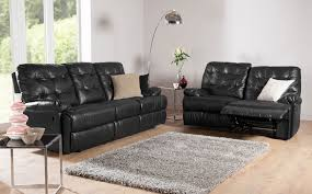 montrose leather recliner sofas in black at furniture choice from 349 99