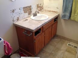 Install Bathroom Sink Best Remodelaholic Updated Bathroom Single Sink Vanity To Double Sink