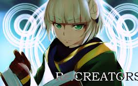 re creators meteora osterreich blonde short hair green eyes
