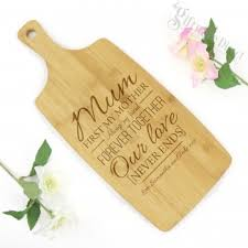 mothers day personalised end cheese wooden chopping board gift