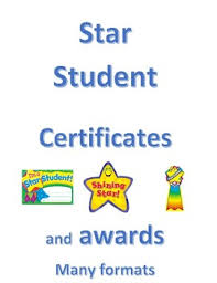 Star Student Certificates Star Student Certificate And Awards