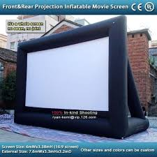blow up screen outdoor material theater system inflatable giant projector tv flat