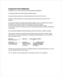 Kinds of Thesis Statements  Expository      An expository  explanatory  paper explains something