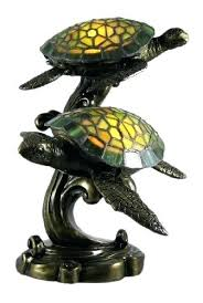 beautiful swimming sea turtles stained glass lamp turtle
