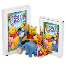 winnie the pooh silver plated double picture photo frame for children preview enlarge image thumbnail 1