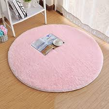 princess dream round gy area rugs and carpet super soft bedroom carpet with a heart rug for kids play round 47 2 pink