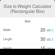 Concrete Block Weight Chart Size To Weight Calculator Rectangular Box Omni